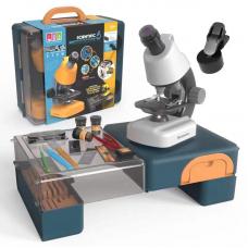 Dečiji mikroskop sa sočivima u boji u koferu