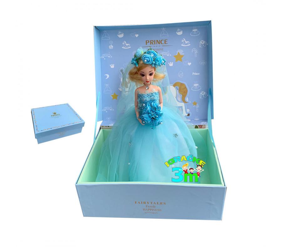 Lutka sa zglobnim tackama u ekskluzivnom pakovanju plava