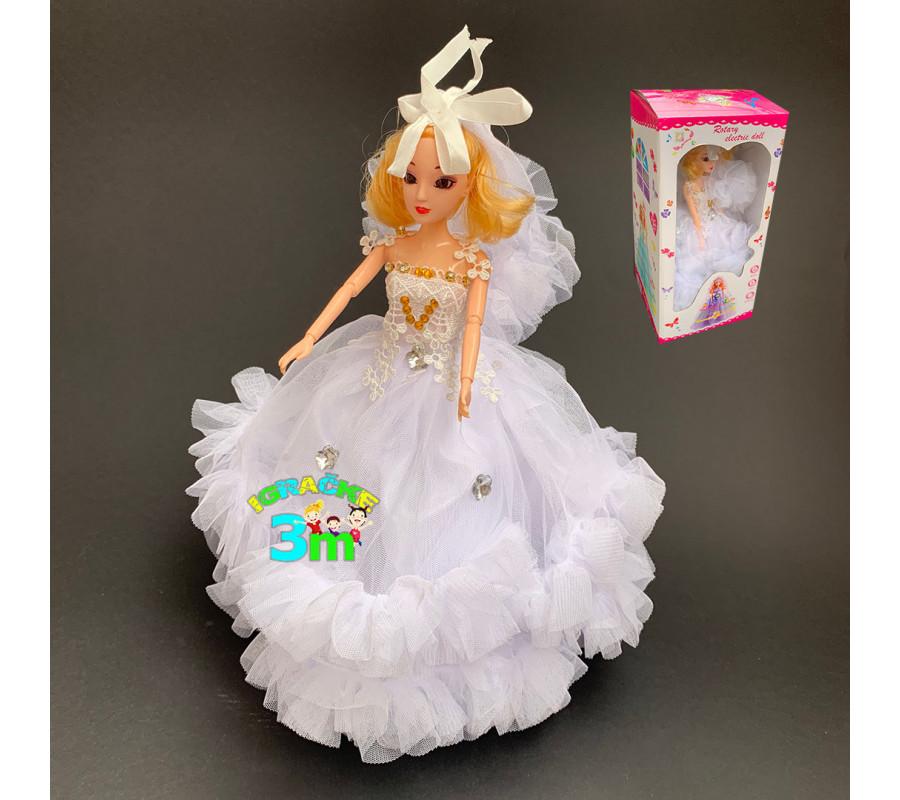 Muzicka lutka sa zglobnim tackama i disko efektima 32cm bela