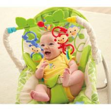 Njihalica i stolicica za bebe zelena