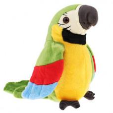 Plisani papagaj koji ponavlja reci - zeleni